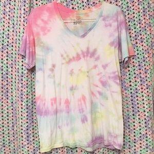 Kawaii Pastel Tie Dye T-shirt w/ Soft Colors